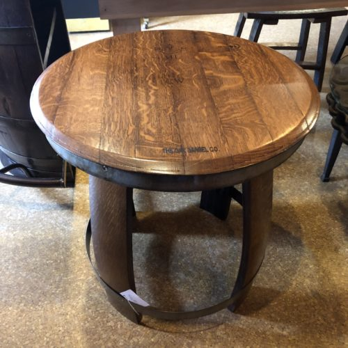 """24"""" D Ring Side Table coffee finish"""
