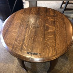 Ring Side Table Top (coffee Finish - original barrel head - no 2 will be identical)