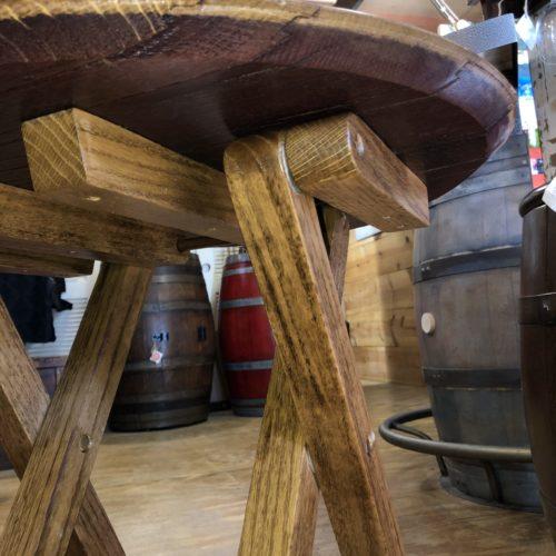 Underside of Center Fold Barrel Head Table